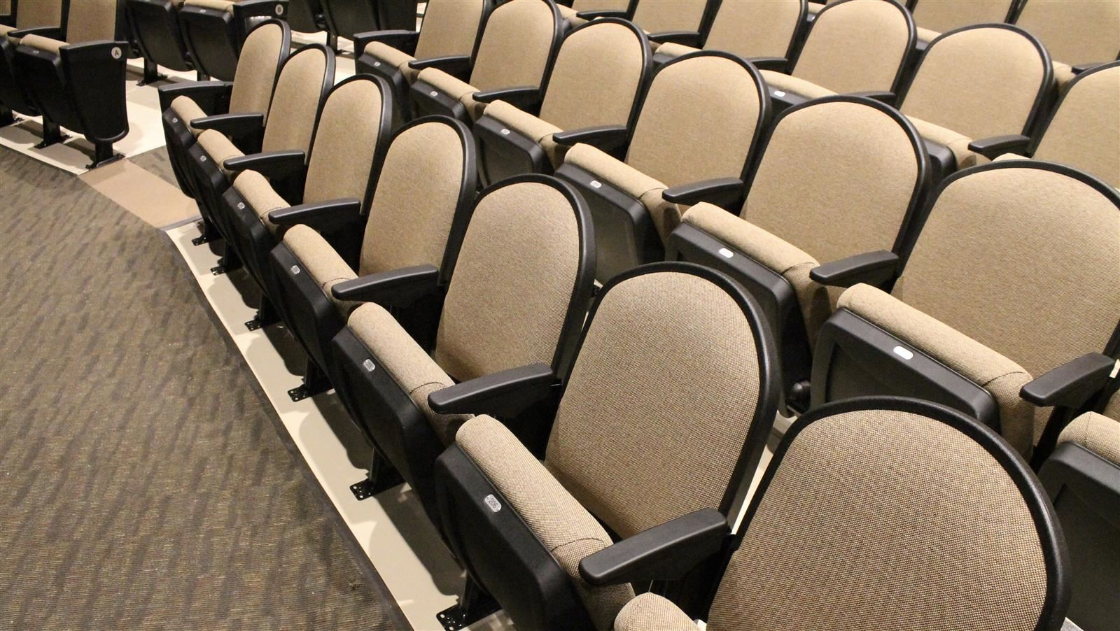 new chairs in the auditorium